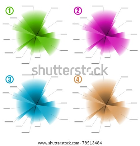 infographic color diagram templates - stock vector