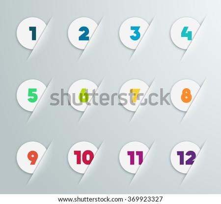 Infographic 3D Numbered Step Bubbles 4 - stock vector