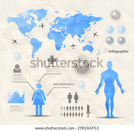 Infographic design elements-brochure-headline-flyer - stock vector