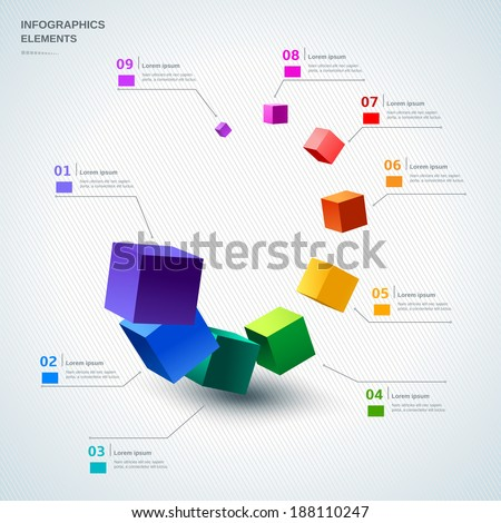 Infographic design elements illustration for business and presentation - stock vector