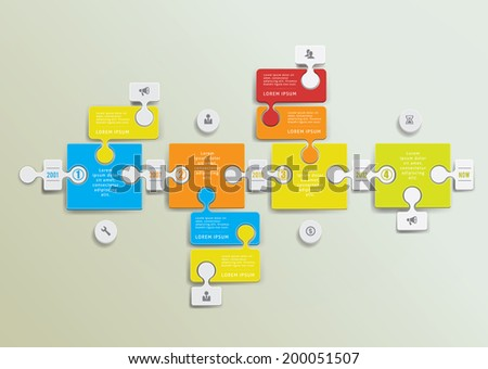 Infographic design elements with figutes and icons. Eps 10 illustration - stock vector