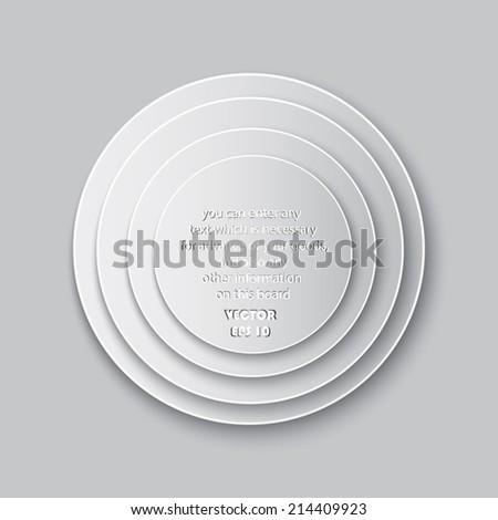 Infographic design on the grey background - stock vector