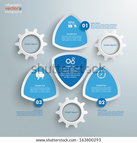 Infographic design on the grey background. Eps 10 vector file. - stock vector