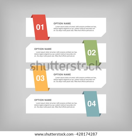 Infographic design, options concept. Template for Business presentation. Vector illustration - stock vector
