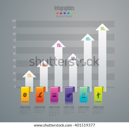 Infographic design template, business infographic and icons, vector infographic. Infographics stock can be used for workflow layout, diagram, number options, web design.  - stock vector