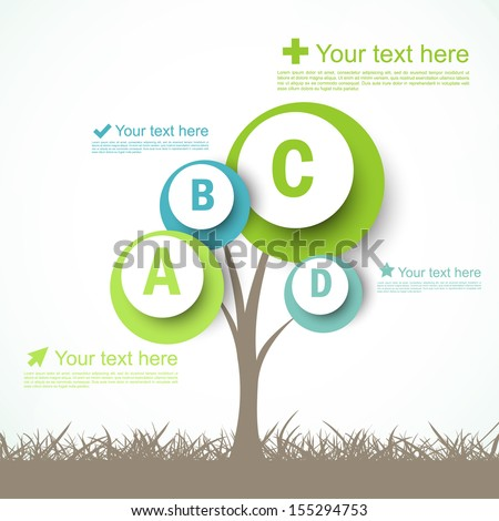 Infographic design with abstract tree - stock vector