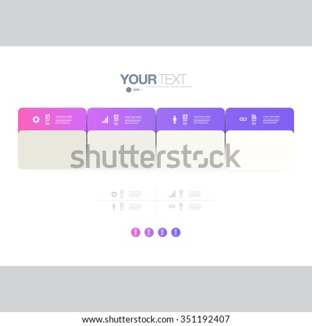 Infographic design with realistic 3d folders on simple background with numbers and text can be used for workflow layout, diagram, chart, number options, web design. Eps 10 stock vector illustration  - stock vector