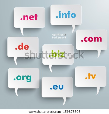 Infographic design with white communication bubbles on the grey background. Eps 10 vector file. - stock vector