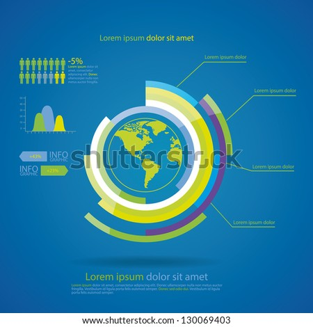 Infographic Eco Modern Design Template. Can be used for infographics,  graphic or website layout vector - stock vector