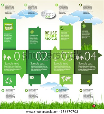Infographic ecology template design  - stock vector
