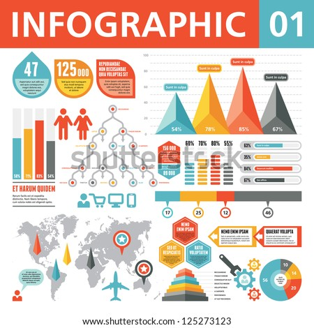 Infographic Elements 01 - stock vector