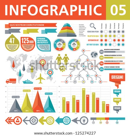 Infographic Elements 05 - stock vector