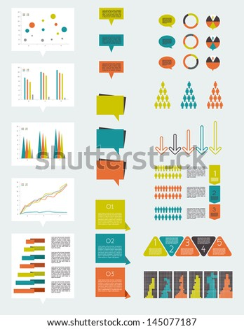 Infographic elements. - stock vector