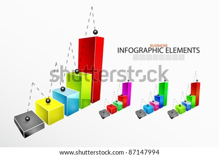 Infographic elements. Bars - stock vector