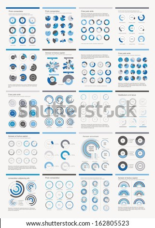 Infographic Elements.Big chart set icon. - stock vector