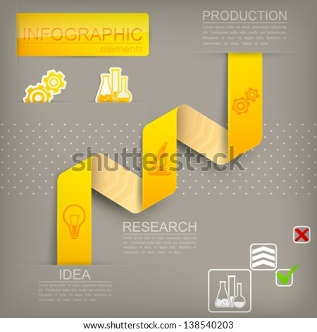 infographic elements for design - stock vector