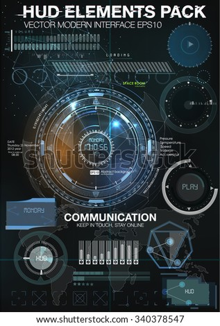 Infographic elements. futuristic user interface HUD UI UX. Abstract background with connecting dots and lines. Connection structure. Vector science background. Business abstract Vector illustration - stock vector