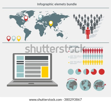 Infographic elements icon. Infographic elements set. Infographic elements vector. Infographic elements collection. Infographic elements business. Infographic elements countries. Infographic elements - stock vector