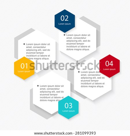 Infographic elements in modern flat business style. Can be used for info graphics, graphic or website layout vector, numbered banners, diagram, flyer, corporate report, marketing etc, web. - stock vector