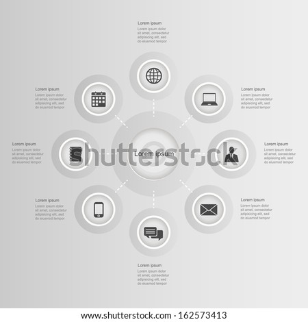 infographic elements. vector graphic business modern template - stock vector