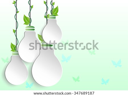Infographic Energy saving green bulbs concept .save world vector illustration. - stock vector