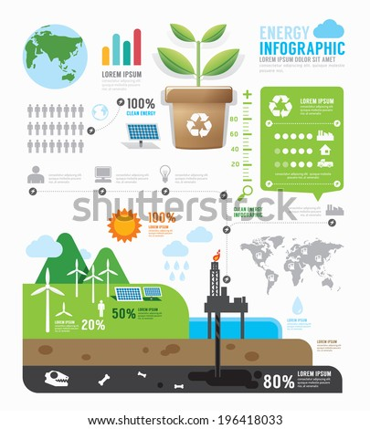 Infographic energy template design . concept vector illustration - stock vector
