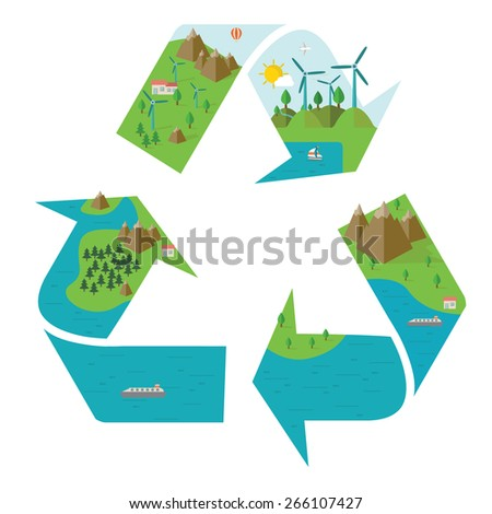 Infographic energy template design Protect world energy concept vector illustration graphic or web design layout. - stock vector