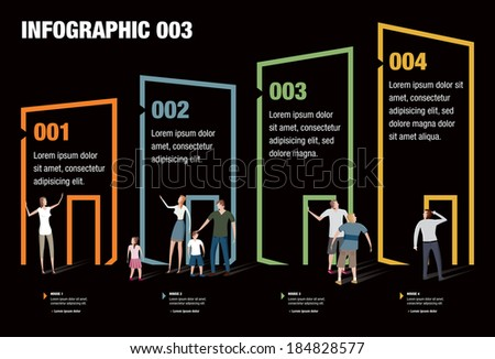 Infographic illustrating the price of houses - stock vector