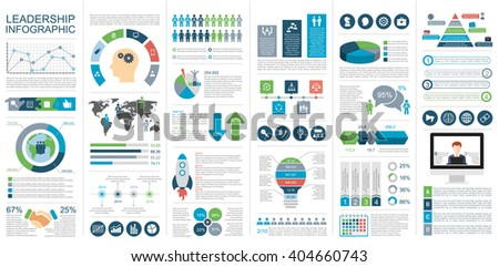 Infographic leadership vector design template. Can be used for workflow, startup, business success, diagram, infographic banner, teamwork, design, infographic elements, set information infographics. - stock vector