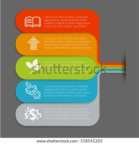 Infographic minimal design vector template. - stock vector