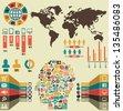Infographic of social media - vector illustration - stock vector