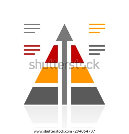 Infographic Pyramid icon on a white background. - stock vector