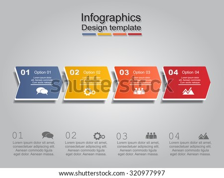 Infographic report template layout. Vector illustration Eps 8. - stock vector