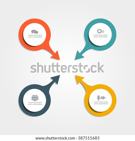 Infographic report template with place for your data. Vector illustration. - stock vector