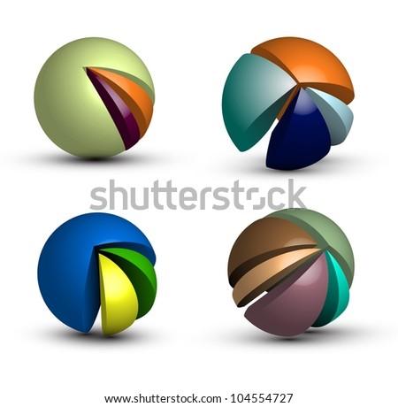 Infographic spheres - stock vector