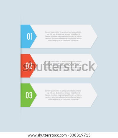 Infographic Steps Banners - stock vector