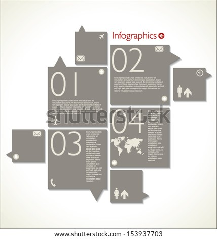 Infographic template design - stock vector