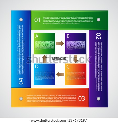 Infographic template. EPS10 vector - stock vector