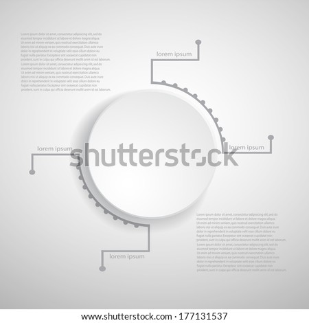 Infographic template.EPS 10 vector file. - stock vector