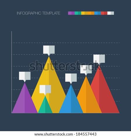 Infographic template. Flat design. Vector illustration - stock vector