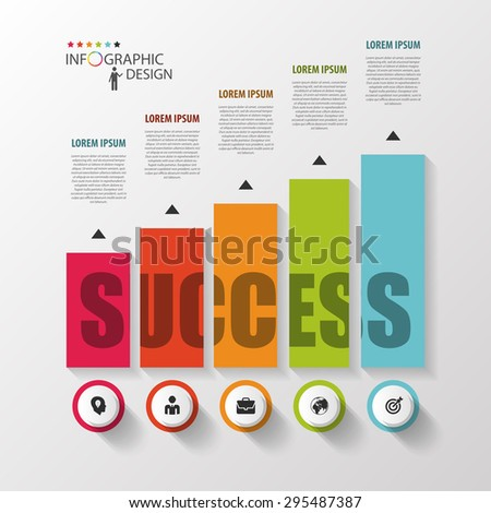 Infographic template. Modern design graph with columns. Vector - stock vector