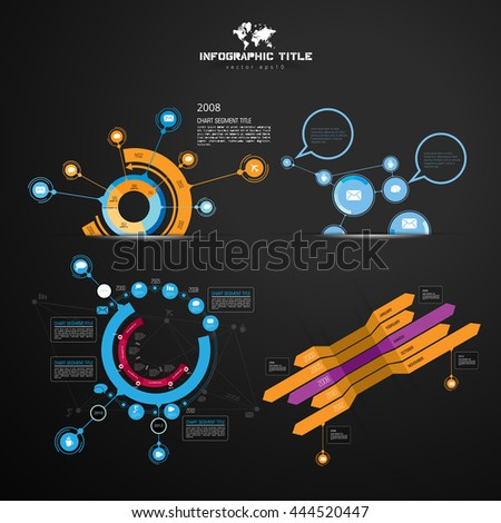 Infographic templates - stock vector