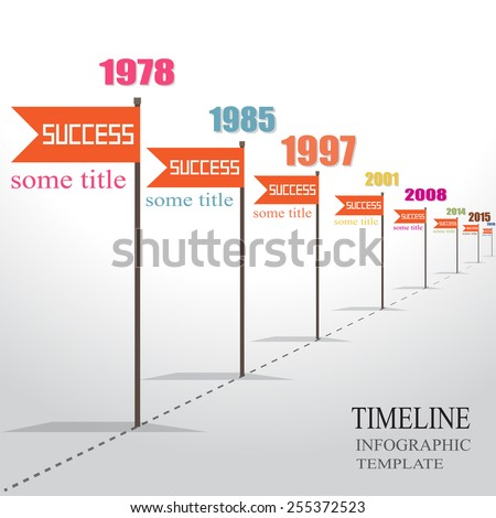 Infographic Timeline Template with pointers. - stock vector