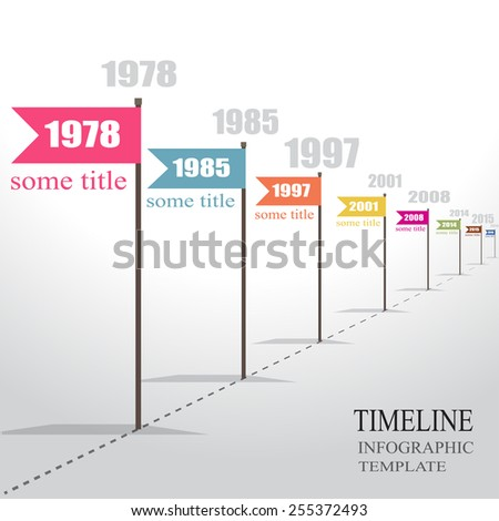 Infographic Timeline. Vector. - stock vector