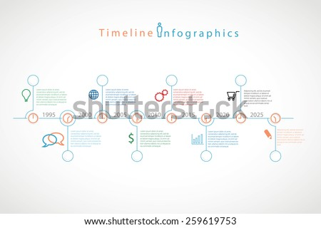 Infographic timeline vector illustration. - stock vector