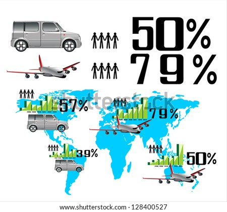 Infographic Travel Elements. Vector - stock vector