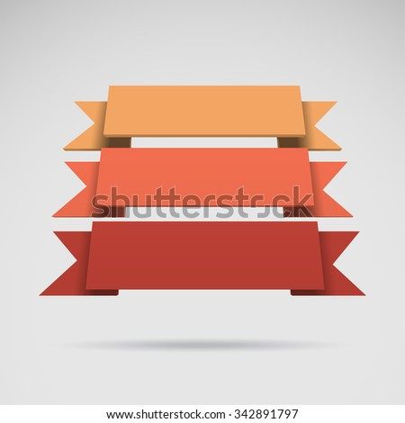 Infographic vector 3D styled colorful ribbons for your presentation - stock vector