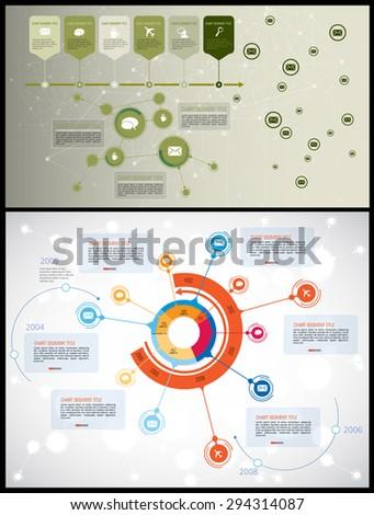 Infographic, Vector design template - stock vector