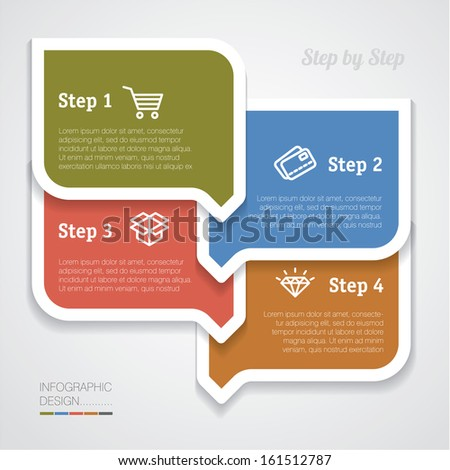 Infographic vector template. - stock vector