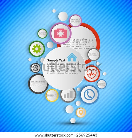 Infographic with colored circles for business, template vector. - stock vector